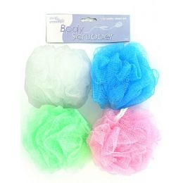 72 Bulk Body Scrubber (assorted Colors)