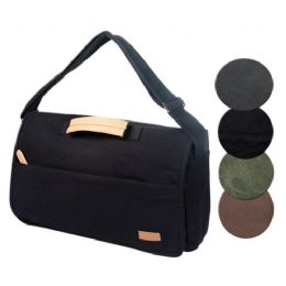 4 Bulk Canvas Computer Bag In Black