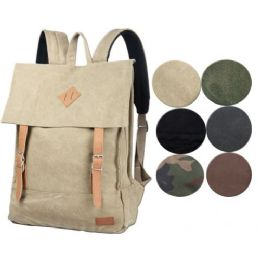 4 Bulk Canvas Backpack Camo Color