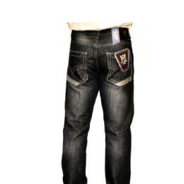 12 Bulk Mercelized Straight Leg Denim 100% Cotton Black Only