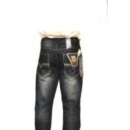 12 Bulk Mercelized Straight Leg Denim 100% Cotton Dark Blue Only