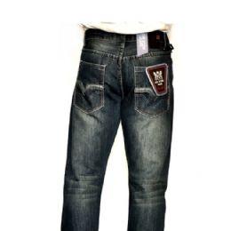 12 Bulk Mercelized Straight Leg Denim 100% Cotton Blue Only