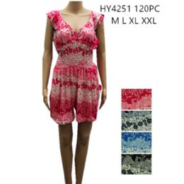 48 Bulk Womens Fashion Summer Romper Assorted Color And Size