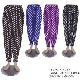 60 Bulk Ladies Printed Lounge Pants Summer Pants Cotton Blend