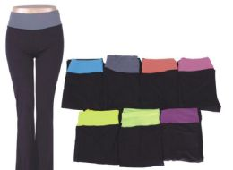 72 Bulk Womans Assorted Color Yoga Pants Assorted All Sizes