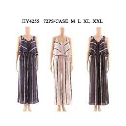 36 Bulk Womens Fashion Jumpsuit Assorted Sizes And Color