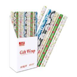 "96 Bulk Gift Wrap Everyday 30x84""/ 17.5 Square Feet"