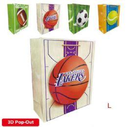 "144 Bulk 3d Gift Bag 10.5x13x5.5""/l"