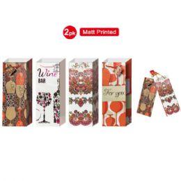 """72 Bulk Wine Bag 5x14.25x4"""" 2 Pack/matt Printed"""