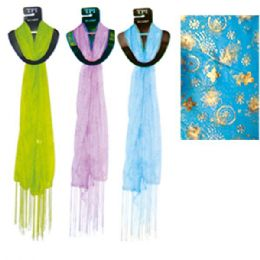 96 Bulk Scarf Assorted Colors 20x60""