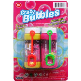 48 Bulk Crazy Bubbles Bottles And Loops On Blister Card