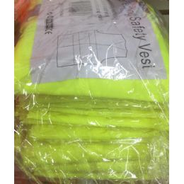 72 Bulk Super Reflective Safety VesT--Yellow OnlY- Yellow Saftey Vest
