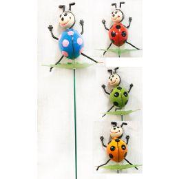 48 Bulk Wholesale Garden Stake Decoration 3d Ladybug