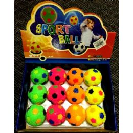 24 Bulk Wholesale Soccer Ball Style Toy Make Squeaky Sound