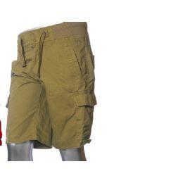 12 Bulk Men's Fashion Cargo Shorts In Khaki Only