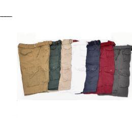 12 Bulk Men's Cargo Shorts Burgundy Color