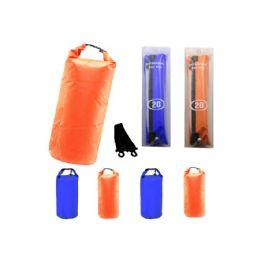 12 Bulk Camping 002 Waterproof Bag 20 Liter Orange