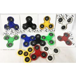 36 Bulk Solid Color Fidget Spinners Assorted