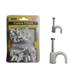 96 Bulk Cable Clips 8mm & 12mm