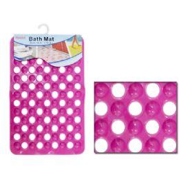 48 Bulk Polka Dot Bath Mat