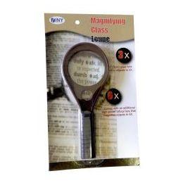48 Bulk Handheld 3x Magnifying Glass With 6x Bifocal Lens