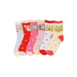 144 Bulk Baby Girls Animal Printed Crew Socks