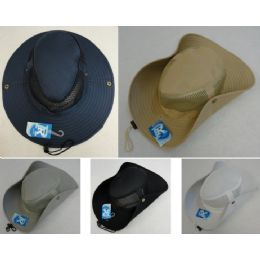 24 Bulk Wholesale Boonie Hats Cowboy Style Fishing Hats Solid Color
