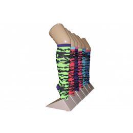 240 Bulk Girls Camo Pattern Knee High Socks