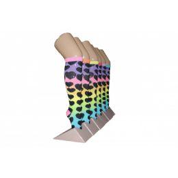 240 Bulk Girls Rainbow Hearts Knee High Socks