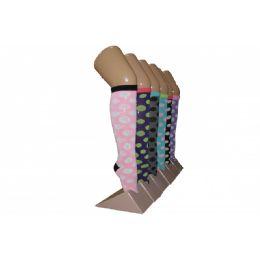 240 Bulk Girls Polka Dot Knee High Socks