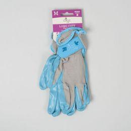 56 Bulk Gloves Womens Long Cuff Grip Med Multi Purp Spndx Back