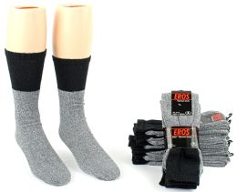 24 Bulk Men's Thermal Tube Boot Socks - Size 10-13