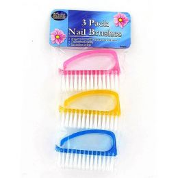 36 Bulk 3 Pc Finger Nail Brushes