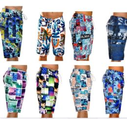 48 Bulk Men's Fashion Printed Bathing Suit
