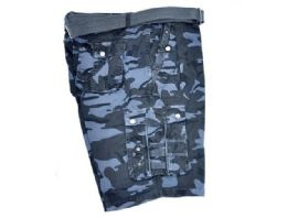 12 Bulk Men's Cargo Shorts In Navy Color