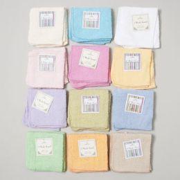 144 Bulk Wash Cloths 2 Pack 12 X 12 Assorted Colors