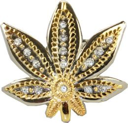 24 Bulk Marijuana Leaf Belt Buckle