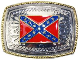12 Bulk Rebel Flag Belt Buckle