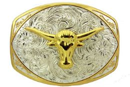 12 Bulk Oversized Bull Head Belt Buckle