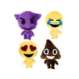 24 Bulk Emoticon Stuffed Plush Character