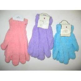 144 Bulk Women's Fuzzy Gloves