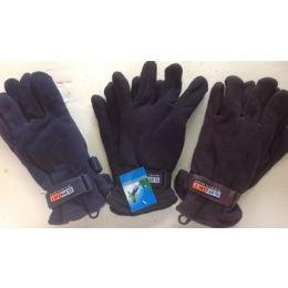 144 Bulk Men's Fleece Gloves