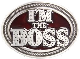 24 Bulk Im The Boss Belt Buckle
