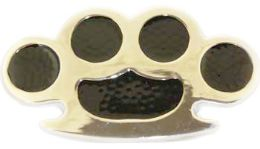 24 Bulk Brass Knuckles Belt Buckle