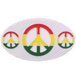 36 Bulk Peace Belt Buckle