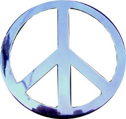 24 Bulk Peace Sign Belt Buckle