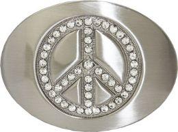 24 Bulk Peace Belt Buckle