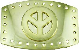 24 Bulk Peace Sign Belt Buckle