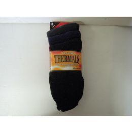 60 Bulk Men's Winter Thermal Socks - 3 Pack
