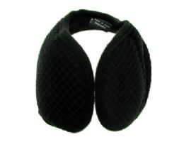 48 Bulk Earmuffs With A Band That Goes Behind The Head With A Diamond Shaped Design Print